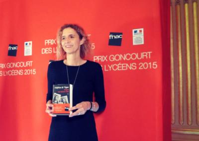 Delphine de vigan, laureate Prix Goncourt des lyceens 2015 ©Bruit de Lire