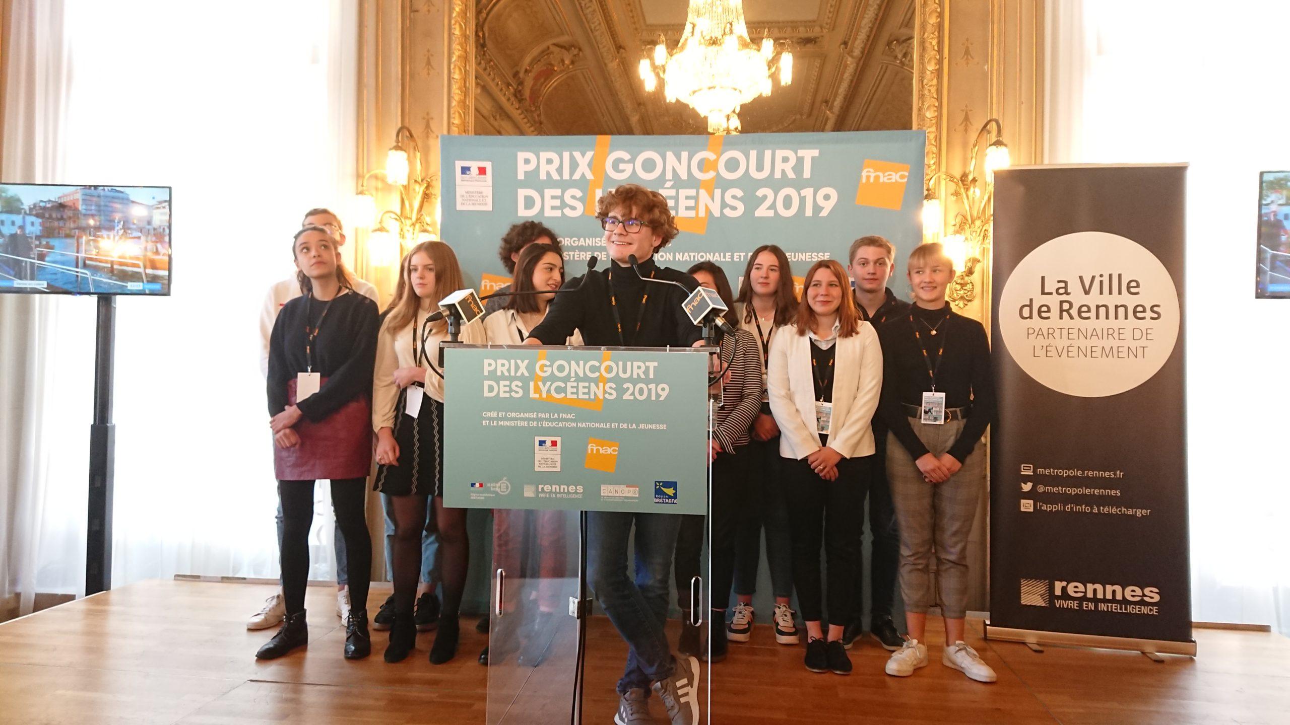 Proclamation à Rennes du Prix Goncourt des Lycéens 2019 ©Bruit de Lire