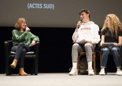 Hélène Gaudy Rencontres nationales Goncourt des lycéens de Rennes 2019 ©Patrice Normand-Bruit de Lire