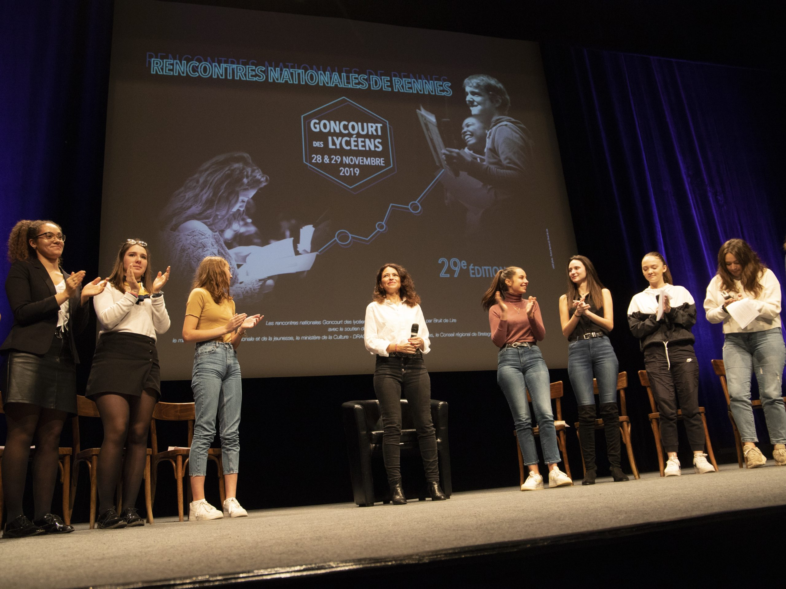 Karin Tuil Rencontres nationales du Goncourt des lycéens de Rennes 2019 ©Patrice Normand-Bruit de Lire