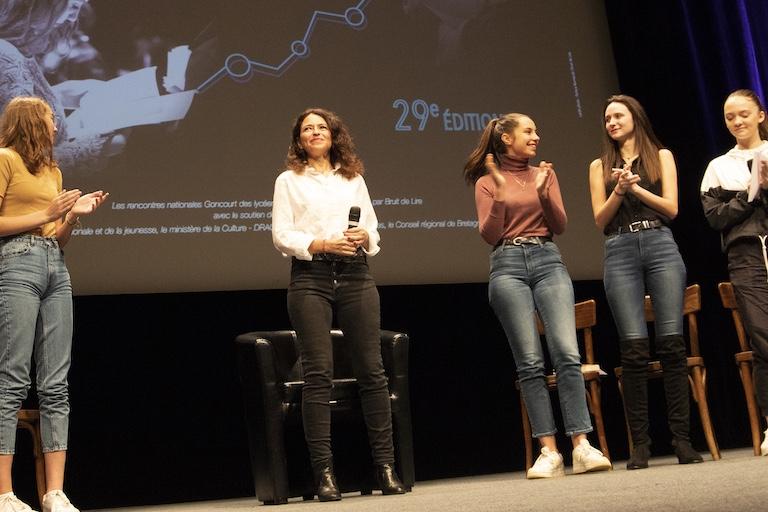 Karine Tuil Rencontres nationales Goncourt des lyceens de Rennes 2019 ©Patrice Normand-Bruit de Lire